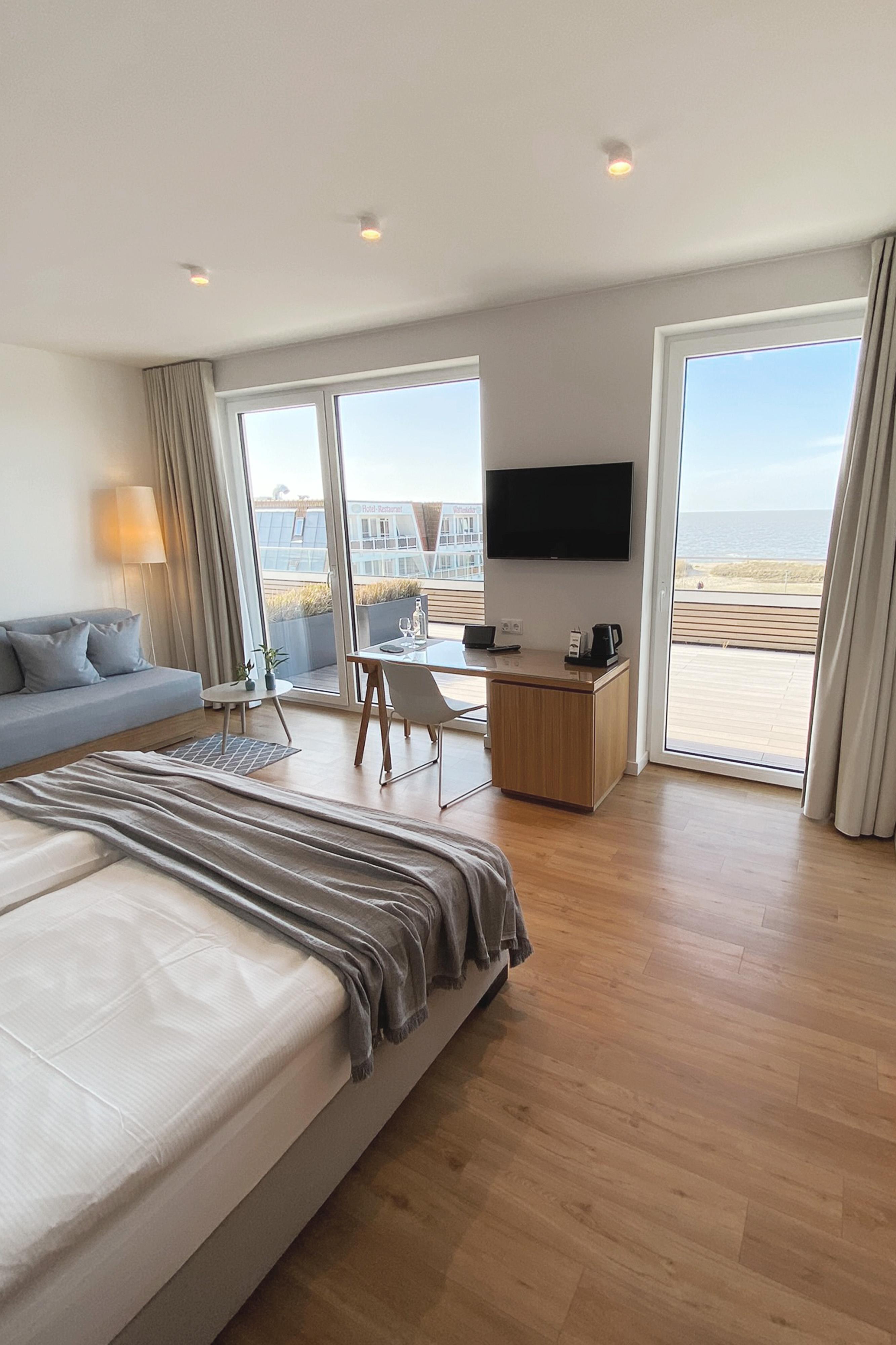 Hotel Strandhus Cuxhaven Zimmer Premium Seeblick
